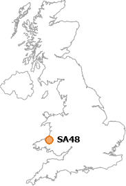 map showing location of SA48