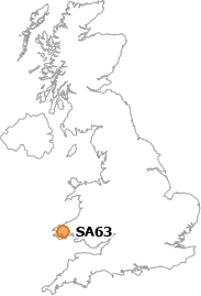 map showing location of SA63