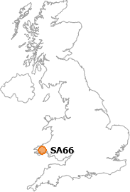 map showing location of SA66
