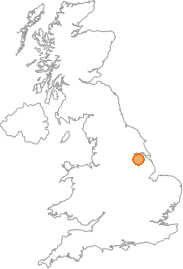 map showing location of Saxby All Saints, North Lincolnshire