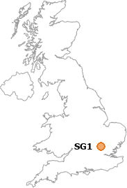 map showing location of SG1