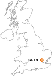 map showing location of SG14