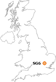map showing location of SG6