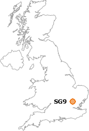 map showing location of SG9