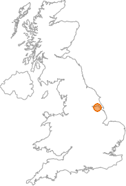 map showing location of South End, North Lincolnshire