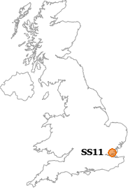 map showing location of SS11