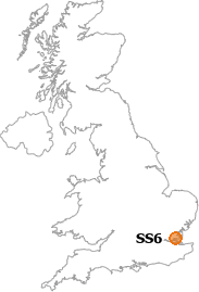 map showing location of SS6