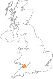 map showing location of St Donats, Vale of Glamorgan
