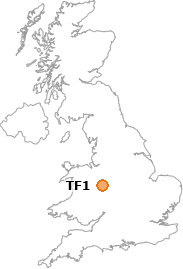 map showing location of TF1