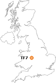 map showing location of TF7