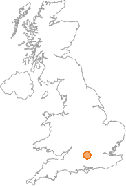 map showing location of Thatcham, Berkshire