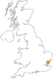 map showing location of Tiptree Heath, Essex