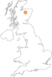 map showing location of Torbain, Moray