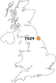 map showing location of TS24