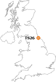 map showing location of TS26