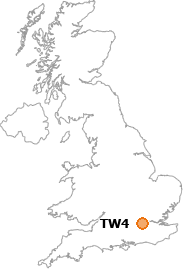 map showing location of TW4