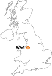 map showing location of WA6