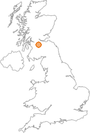 map showing location of Waterloo, North Lanarkshire