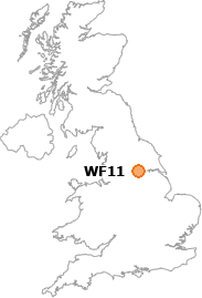 map showing location of WF11