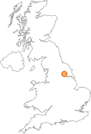 map showing location of Wheldrake, York