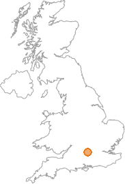 map showing location of Whitchurch, Oxfordshire