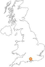 map showing location of Winchester, Hampshire