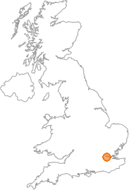map showing location of Woolwich, Greater London