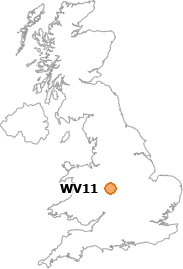 map showing location of WV11